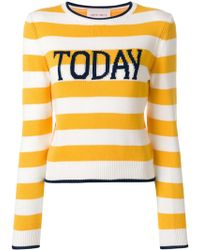 Alberta Ferretti - Striped Today Sweater - Lyst