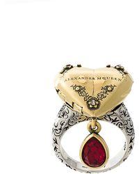 Alexander McQueen - Heart Locket Ring - Lyst