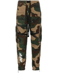 b1a4b1d7d84f Lyst - Off-White C O Virgil Abloh Camo Printed Cotton Cargo Pants in ...