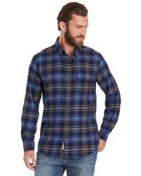 G.H. Bass & Co. | Long Sleeve Plaid Twill Shirt | Lyst