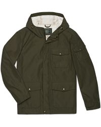 G.H. Bass & Co. - 3 Pocket Hooded Rain Jacket - Lyst