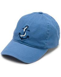 12d00a44e8df2 Ralph Lauren · G.H.BASS - Embroidered Anchor Baseball Hat - Lyst