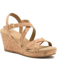 G.H. Bass & Co. - Kensie Wedge Sandal - Lyst