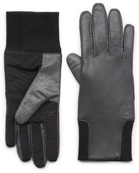 G.H. Bass & Co. - Leather Glove With Knit Cuff - Lyst