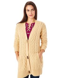 G.H. Bass & Co. - Mixed Cable Cardigan - Lyst