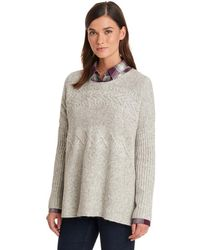 G.H. Bass & Co. - Relaxed Cable Pullover Poncho - Lyst
