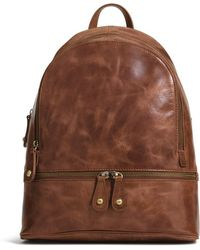 G.H. Bass & Co. - Heritage Leather Backpack - Lyst