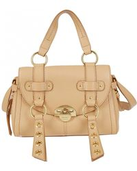 fb69f3844b Lyst - See By Chloé Taupe and Cream Leather Chain Strap Shoulder Bag ...