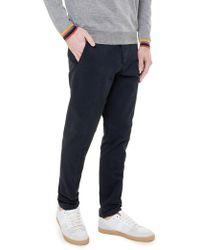 AMI - AMI Pantalone in cotone navy - Lyst