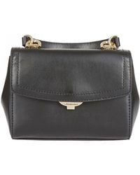 4a4c46a30f2e Michael Kors Collins Large Leather Satchel Bag in Black - Lyst