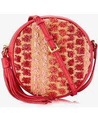 12bc7da5d06c Lyst - Tory Burch  zoey  Small Floral Cutout Perforated Leather ...