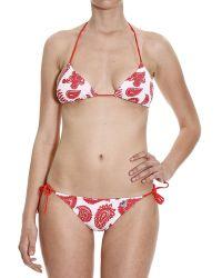 K-Way - Swimsuit Swimwear Georgine Double Reversible Bikini Triangle Print - Lyst