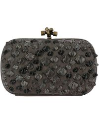 Bottega Veneta - Clutch Bag Knot In Leather With Details In Genuine Leather With Python Pattern - Lyst