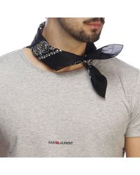Saint Laurent - Foulard a bandana con stampe all over by - Lyst