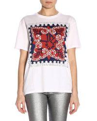 Valentino - T-shirt in cotone con stampa - Lyst