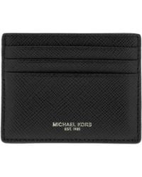 7bfdef6c52d9 Michael Kors Harrison Leather Card Case And Money Clip in Black for ...