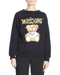 64457df714 Moschino Moschino Capsule Collection Sweatshirt In Cotton With Teddy  Christmas Moschino Print