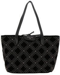 Patrizia Pepe - Studded Velvet Shopper Bag - Lyst