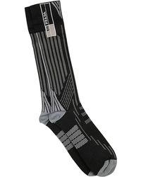 Prada - Techno Nylon Socks - Lyst