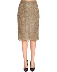 Valentino - Floral Embroidered Mesh Skirt - Lyst