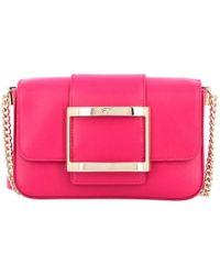 b530018f997a Lyst - Roger Vivier Prismick Fringe-embellished Suede Shoulder Bag ...