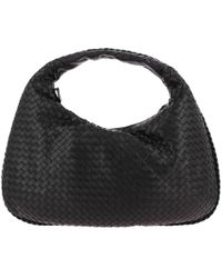 Bottega Veneta - Hobo Bag Veneta Large In Leather With Woven Pattern - Lyst