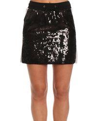 Alberta Ferretti - Side Stripe Sequin Mini Skirt - Lyst
