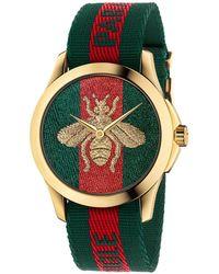 Gucci - Le Marché Des Merveilles Watch Case 38mm Web Bee Pattern - Lyst