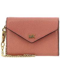 1312edbfc154 Lyst - MICHAEL Michael Kors Continental Wallet in Pink