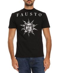 Fausto Puglisi - Logo Print Cotton T-shirt - Lyst