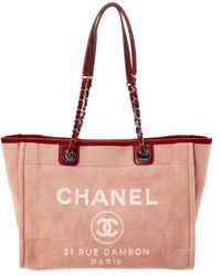 9076d5d137a4 Lyst - Chanel Deauville - Women s Chanel Deauville Totes