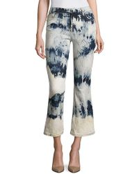 Faith Connexion - Tie-dye Cropped Flared Jeans - Lyst
