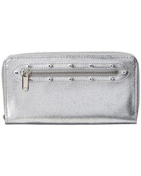 Louis Vuitton - Limited Edition Silver Suhali Leather Zippy Wallet - Lyst