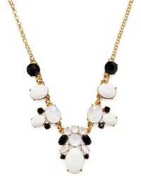 Kate Spade - Jewelled Tile Mini Necklace - Lyst