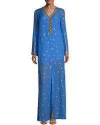 SemSem - Jamila Embroidered Kaftan - Lyst