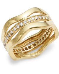 Kwiat - Wave Diamond & 18k Yellow Gold Fancy Ring - Lyst