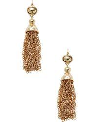 Kenneth Jay Lane - Gold Tassel-chain Drop Earrings - Lyst
