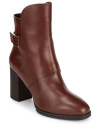 Tod's - Buckle Leather Booties - Lyst