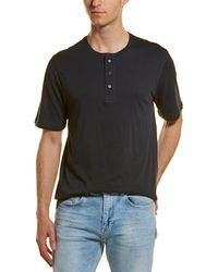 Vince Double Layer Henley T-shirt