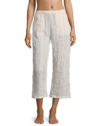 Skin Worldwide - Cotton Printed Cropped Pant - Lyst