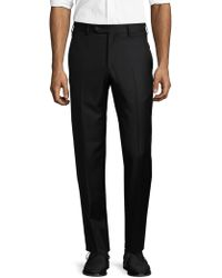 Lubiam - Solid Wool Trousers - Lyst