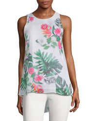 Vince Camuto - Tropical Sleeveless Top - Lyst