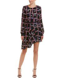 Parker - Printed Faux Wrap Dress - Lyst