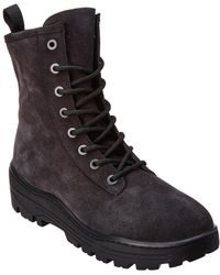 5d73ae04771e6 Yeezy Nubuck Military Boots in Black for Men - Lyst
