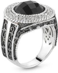 Alor - Delatori By Silver Black Onyx & Crystal Ring - Lyst