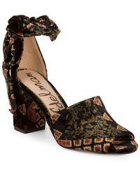 bf0382f16a54 Sam Edelman - Odele Floral Ankle-tie Sandal - Lyst