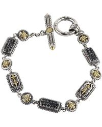 Konstantino - Asteri Triple Pavé Black Diamond, Crystal And Sterling Silver Bracelet - Lyst