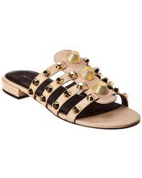 Balenciaga - Giant Studded Leather Sandal - Lyst
