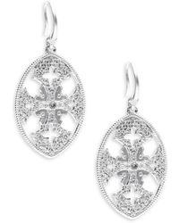 Armenta - New World Diamond & Sterling Silver Drop Earrings - Lyst