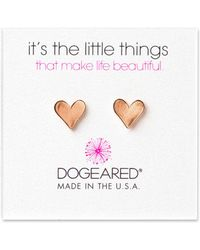 Dogeared - It's The Little Things 14k Rose Gold Over Silver Earrings - Lyst